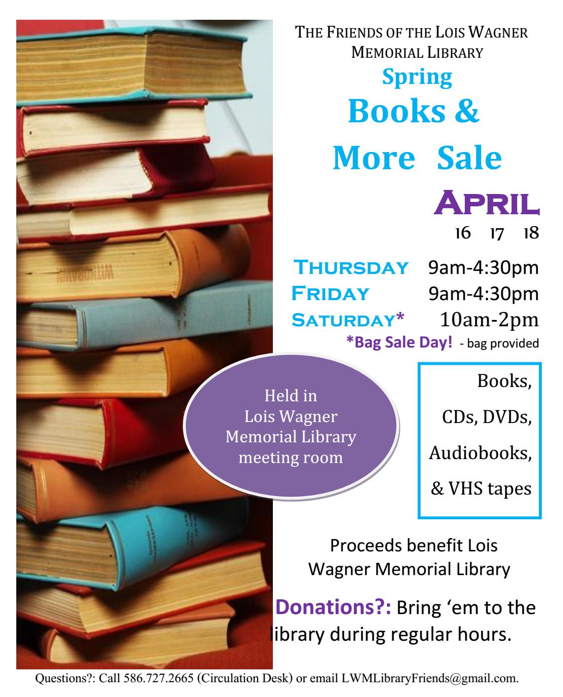 Friends Spring Book Sale & More 2015